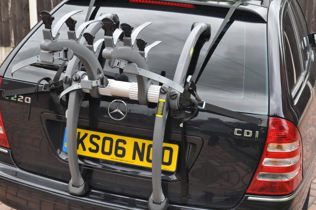 Mercedes c class estate bike rack car bike racks bike for Mercedes benz bike rack